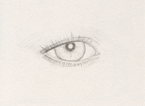 Lorna's Eye, pencil drawing 1998